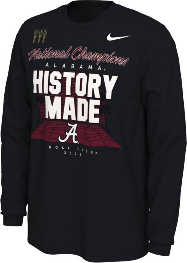 Nike Men's 2020 National Champions Alabama Crimson Tide Long Sleeve Locker Room T-Shirt product image