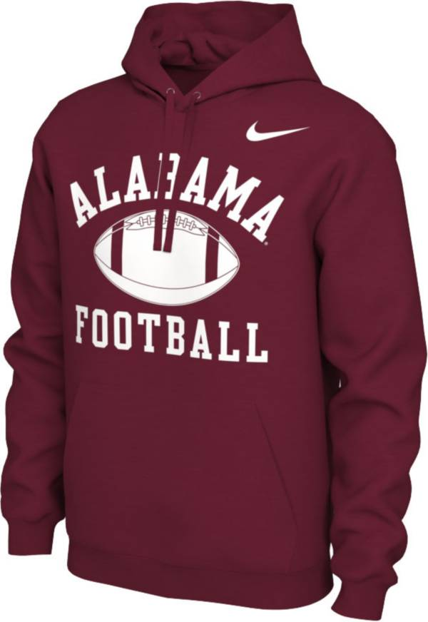 Nike Men's Alabama Crimson Tide Crimson Pullover Football Hoodie product image