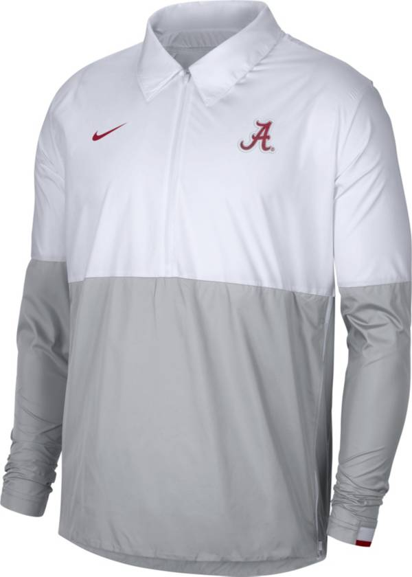 Nike Men's Alabama Crimson Tide White/Grey Lightweight Football Coach's Jacket product image