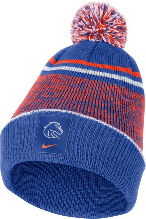 Nike Men's Boise State Broncos Blue Football Sideline Cuffed Pom Beanie product image