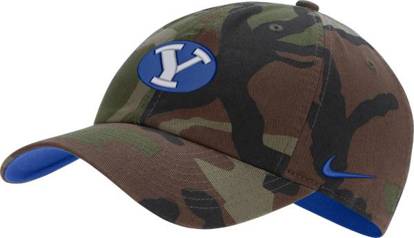 Nike Men's BYU Cougars Camo Heritage86 Adjustable Hat product image