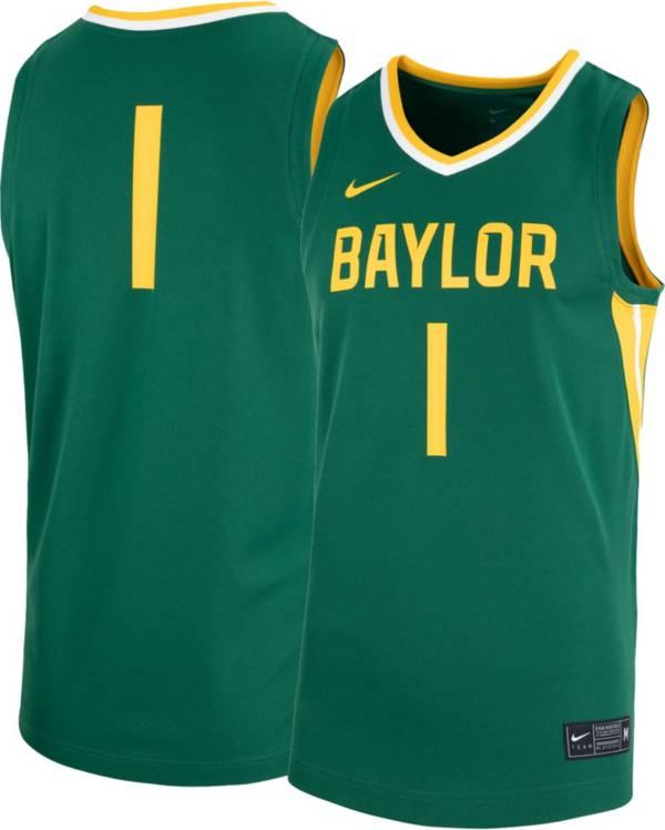 Nike Men's Baylor Bears #1 Green Replica Basketball Jersey product image
