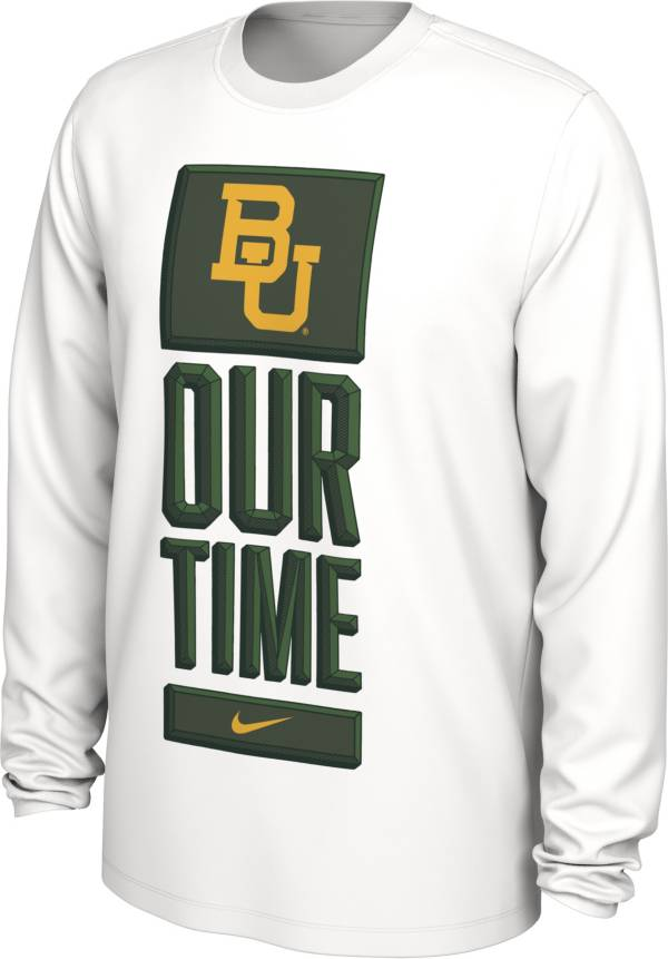 Nike Men's Baylor Bears 'Our Time' Bench Long Sleeve White T-Shirt product image