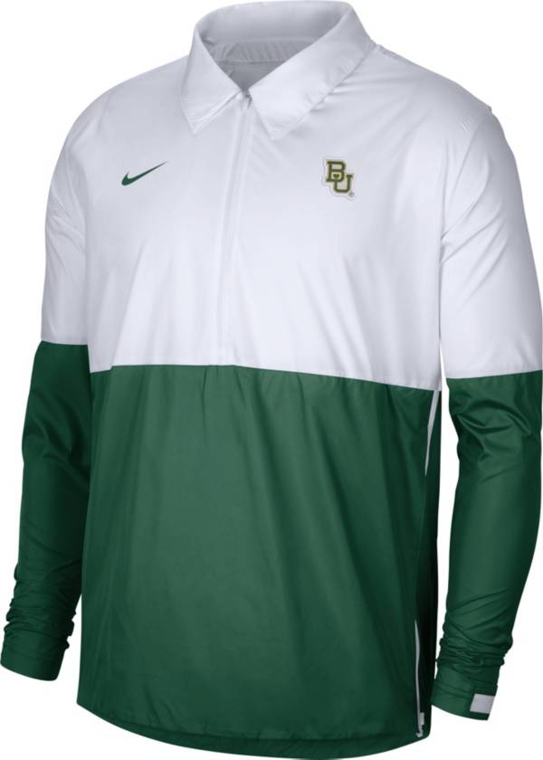Nike Men's Baylor Bears White/Green Lightweight Football Coach's Jacket product image
