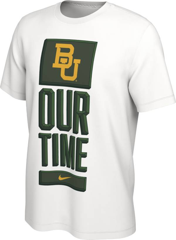 Nike Men's Baylor Bears 'Our Time' Bench White T-Shirt product image