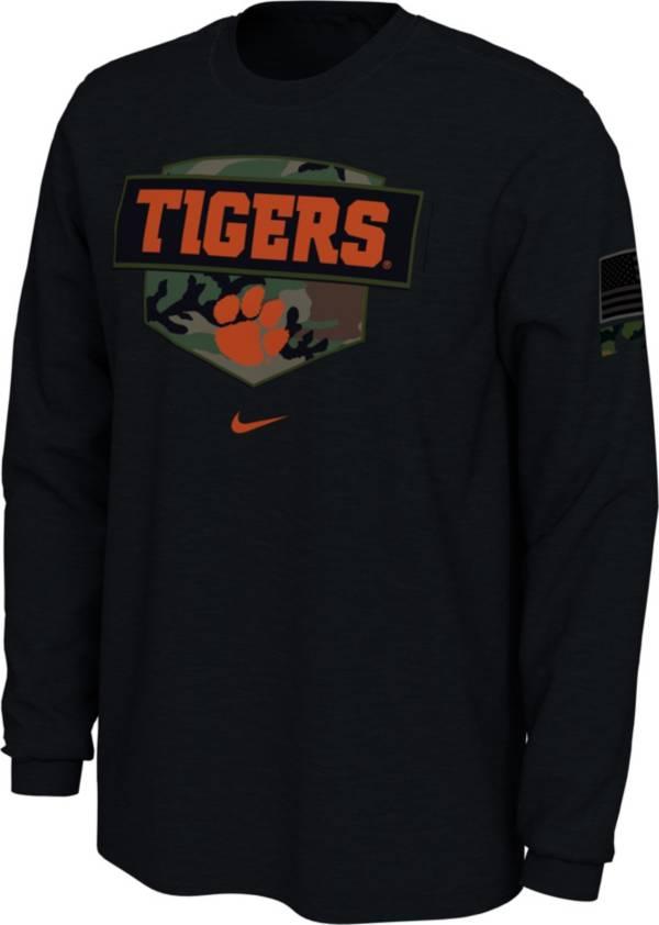 Nike Men's Clemson Tigers 'Veterans Day' Long Sleeve Black T-Shirt product image