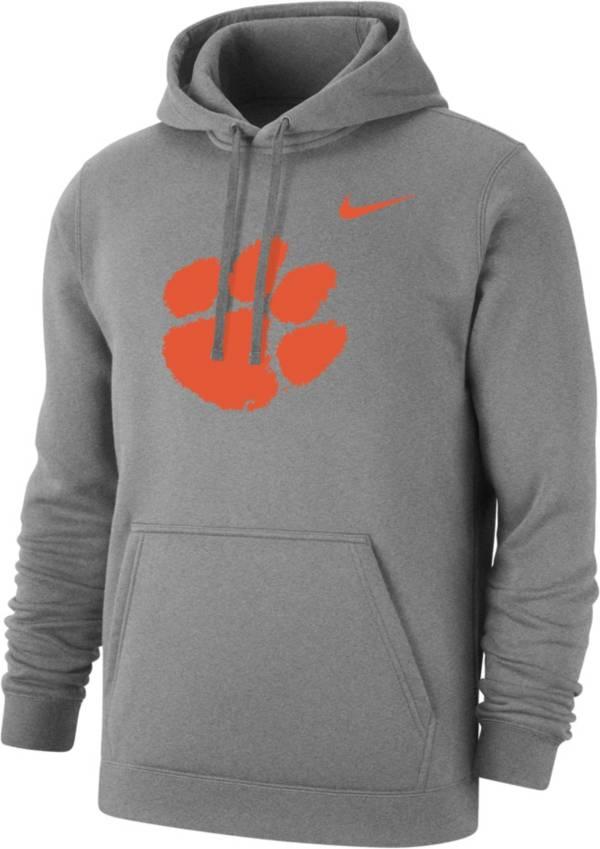 Nike Men's Clemson Tigers Logo Grey Pullover Hoodie product image