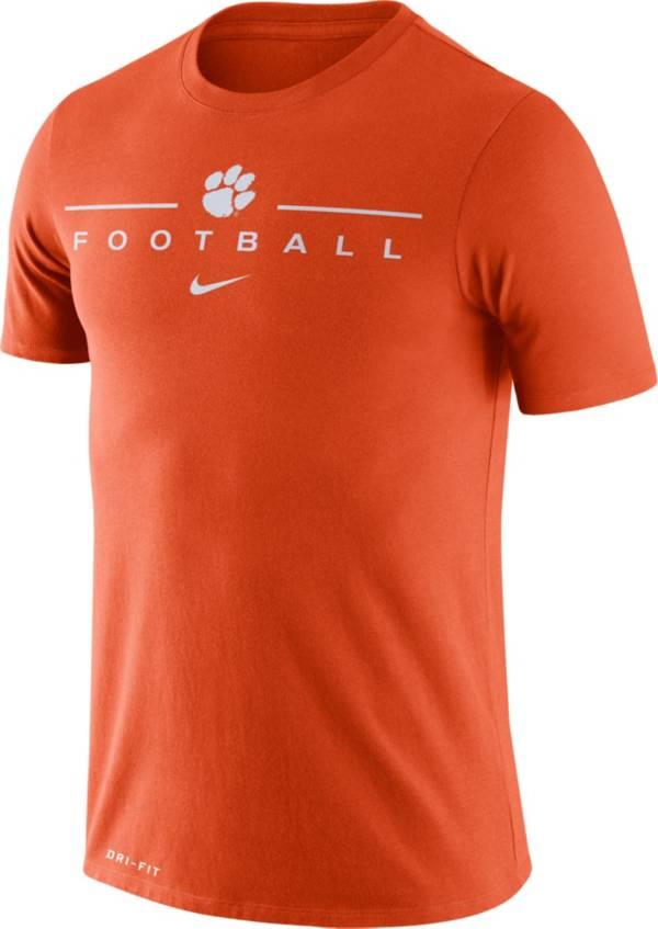 Nike Men's Clemson Tigers Orange Dri-FIT Cotton Performance Football T-Shirt product image