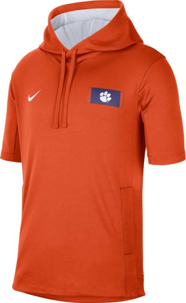 Nike Men's Clemson Tigers Orange Showout Short Sleeve Hoodie product image