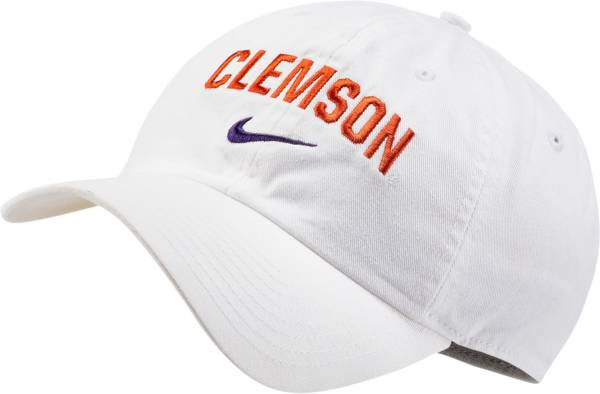 Nike Men's Clemson Tigers Heritage86 Arch Wordmark White Hat product image
