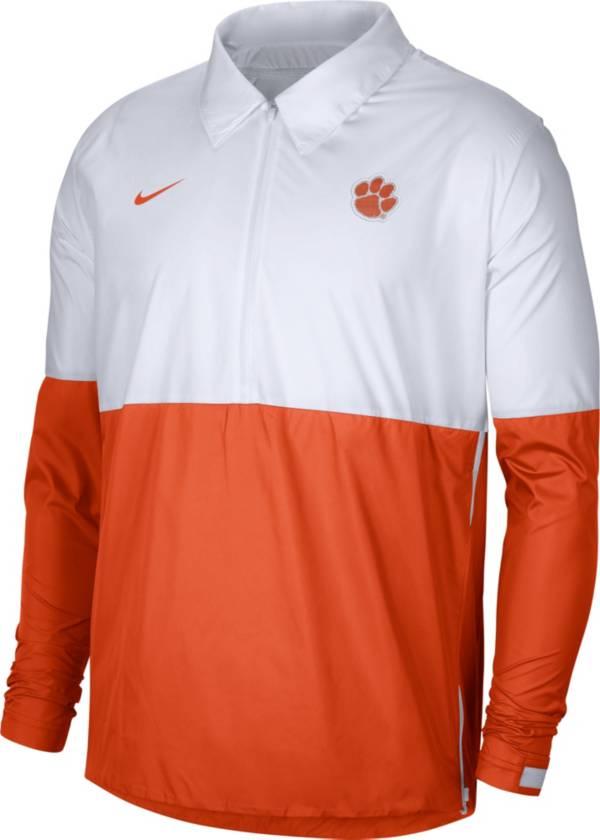 Nike Men's Clemson Tigers White/Orange Lightweight Football Coach's Jacket product image