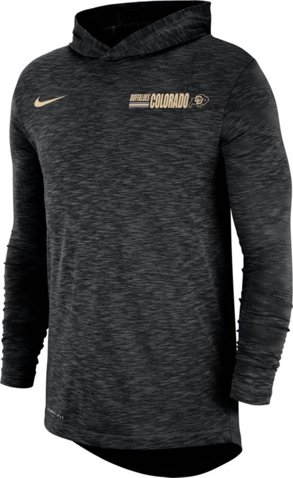 Nike Men's Colorado Buffaloes Dri-FIT Slub Long Sleeve Hooded Black T-Shirt product image