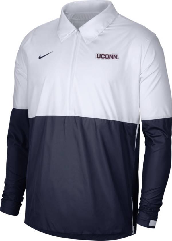 Nike Men's UConn Huskies White/Blue Lightweight Football Coach's Jacket product image