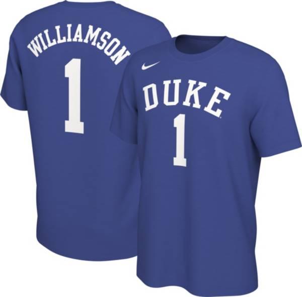 Nike Men's Zion Williamson Duke Blue Devils #1 Duke Blue Basketball Jersey T-Shirt product image