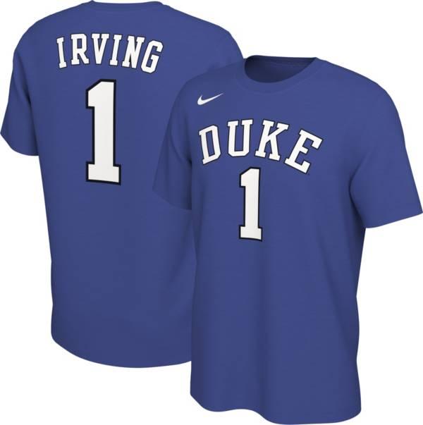 Nike Men S Kyrie Irving Duke Blue Devils 1 Duke Blue Basketball Jersey T Shirt Dick S Sporting Goods