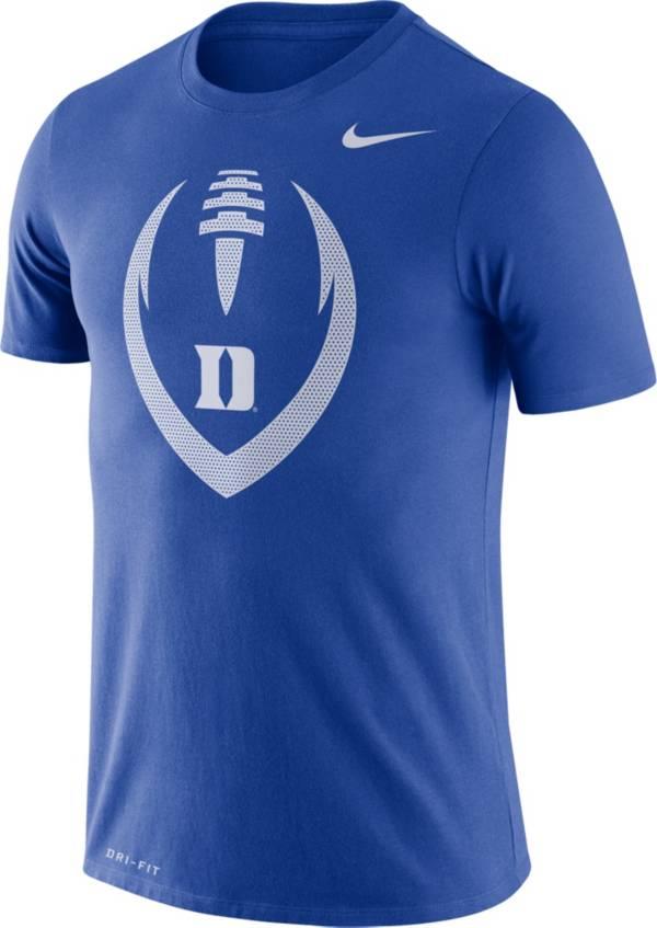 Nike Men's Duke Blue Devils Royal Legend Football Icon T-Shirt product image