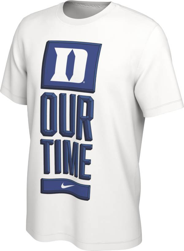 Nike Men's Duke Blue Devils 'Our Time' Bench White T-Shirt product image