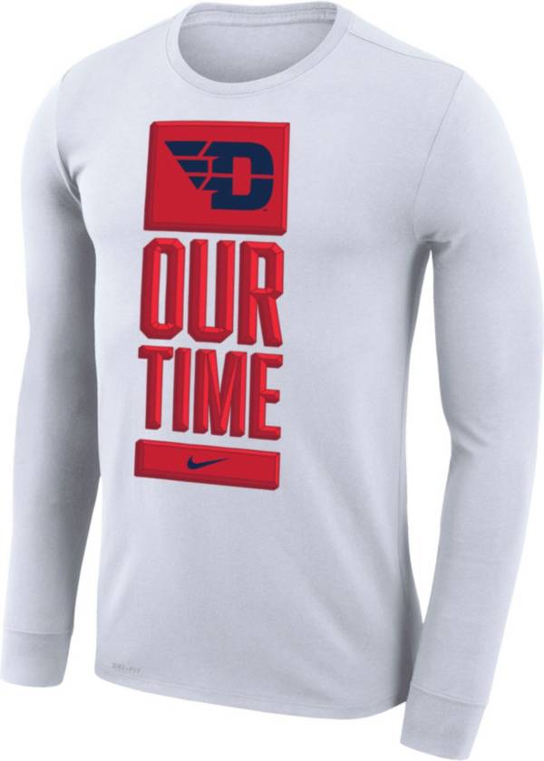 Nike Men's Dayton Flyers 'Our Time' Bench Long Sleeve White T-Shirt product image