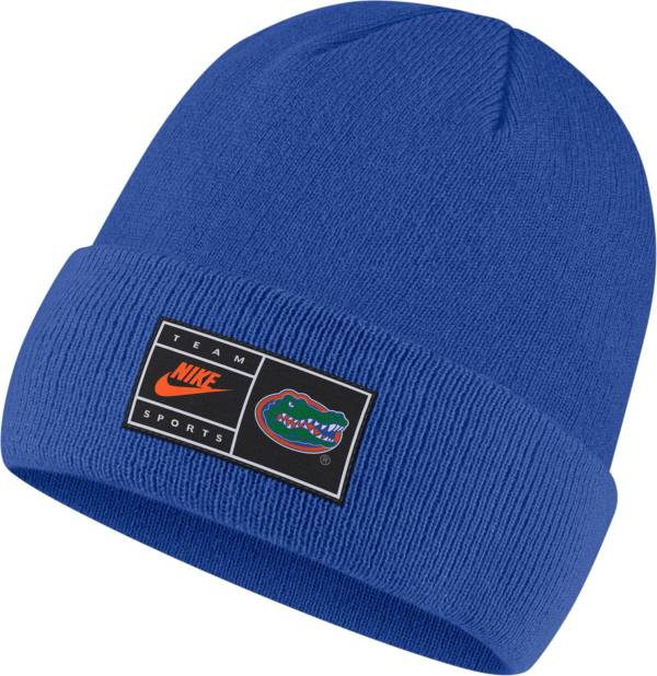 Nike Men's Florida Gators Blue Throwback Patch Cuffed Knit Beanie product image