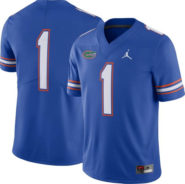Jordan Men's Florida Gators #1 Blue Dri-FIT Limited Football Jersey product image