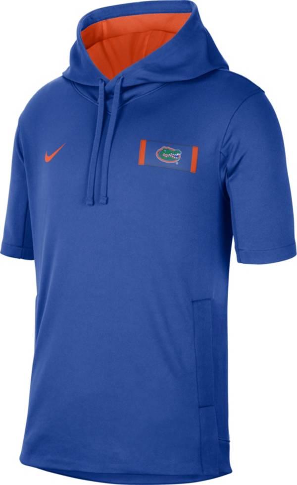 Nike Men's Florida Gators Blue Showout Short Sleeve Hoodie product image