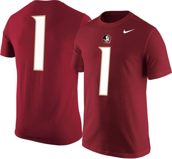 Nike Men's Florida State Seminoles #1 Garnet Jersey T-Shirt product image