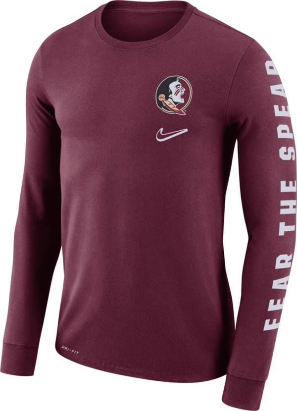 Nike Men's Florida State Seminoles Garnet 'Fear the Spear' Mantra Long Sleeve T-Shirt product image