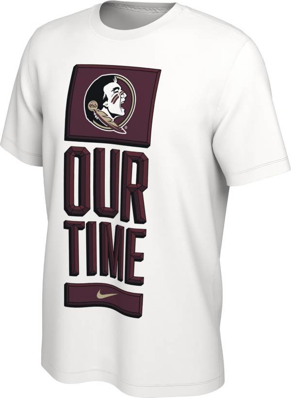 Nike Men's Florida State Seminoles 'Our Time' Bench White T-Shirt product image