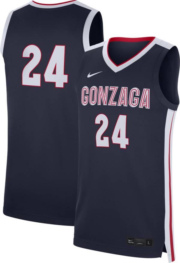 Nike Men's Gonzaga Bulldogs #24 Blue Replica Basketball Jersey product image