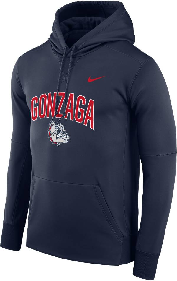Nike Men's Gonzaga Bulldogs Blue Therma Logo Hoodie product image