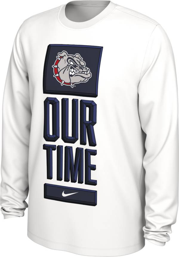 Nike Men's Gonzaga Bulldogs 'Our Time' Bench Long Sleeve White T-Shirt product image
