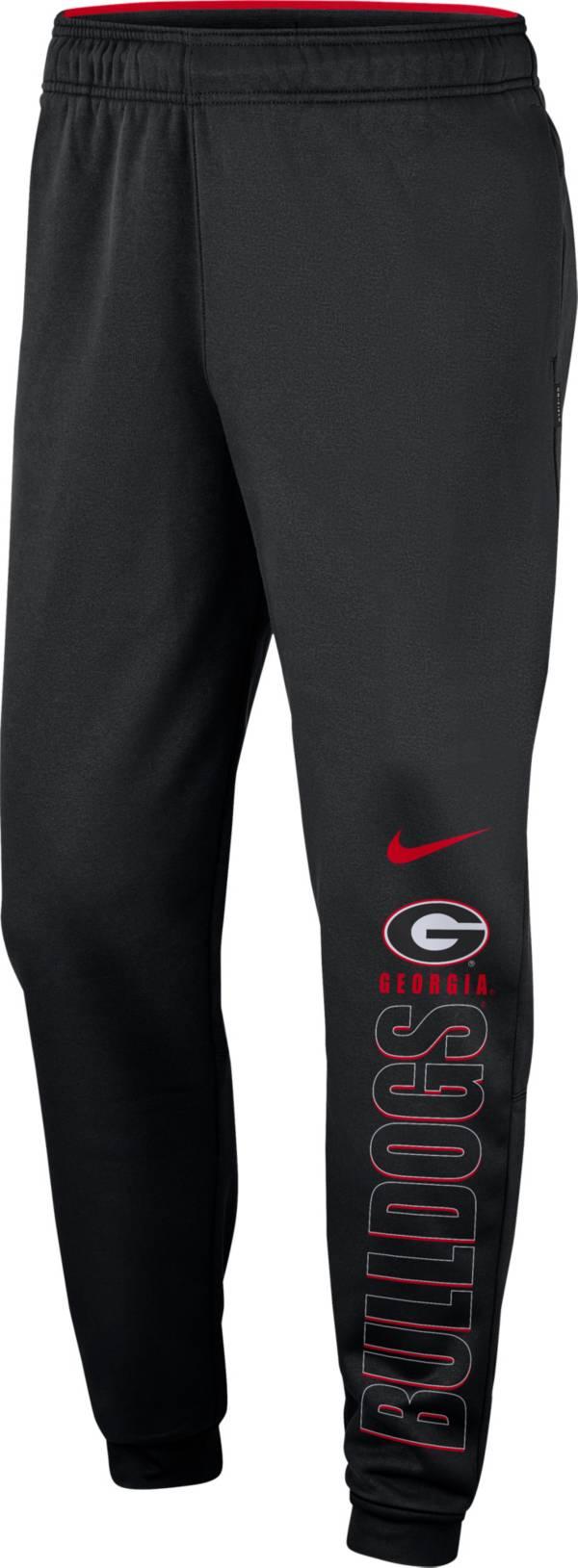 Nike Men's Georgia Bulldogs Therma Tapered Black Pants product image