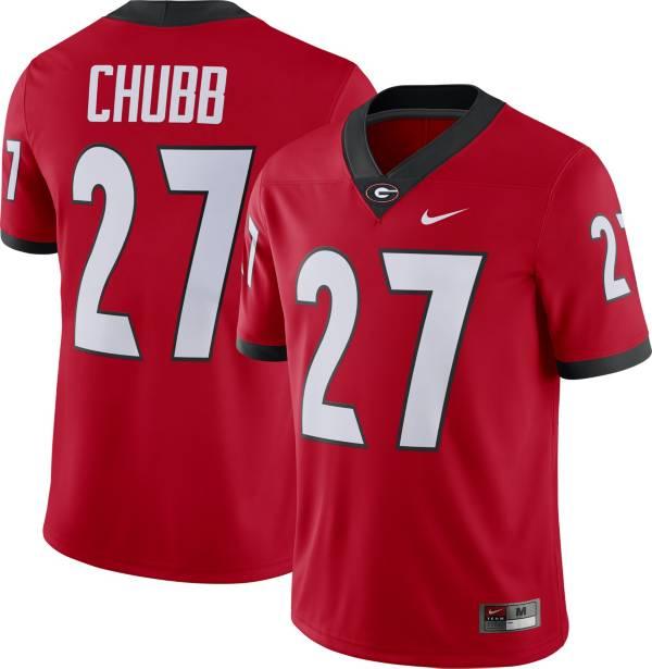 Nike Men's Nick Chubb Georgia Bulldogs #27 Red Dri-FIT Game Football Jersey product image