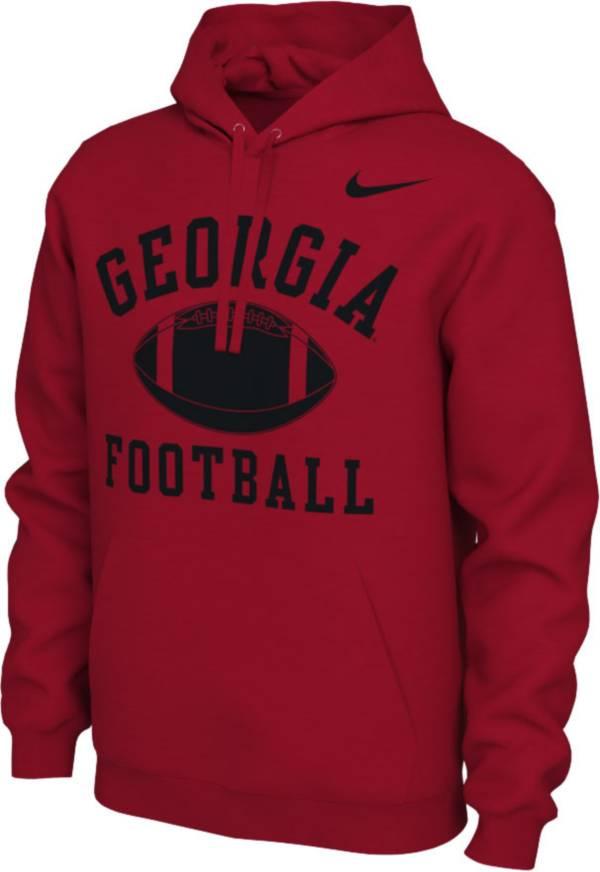 Nike Men's Georgia Bulldogs Red Pullover Football Hoodie product image