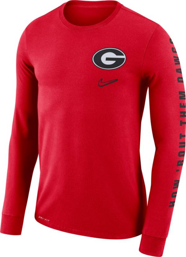 Nike Men's Georgia Bulldogs Red 'How 'Bout Them Dawgs' Mantra Long Sleeve T-Shirt product image