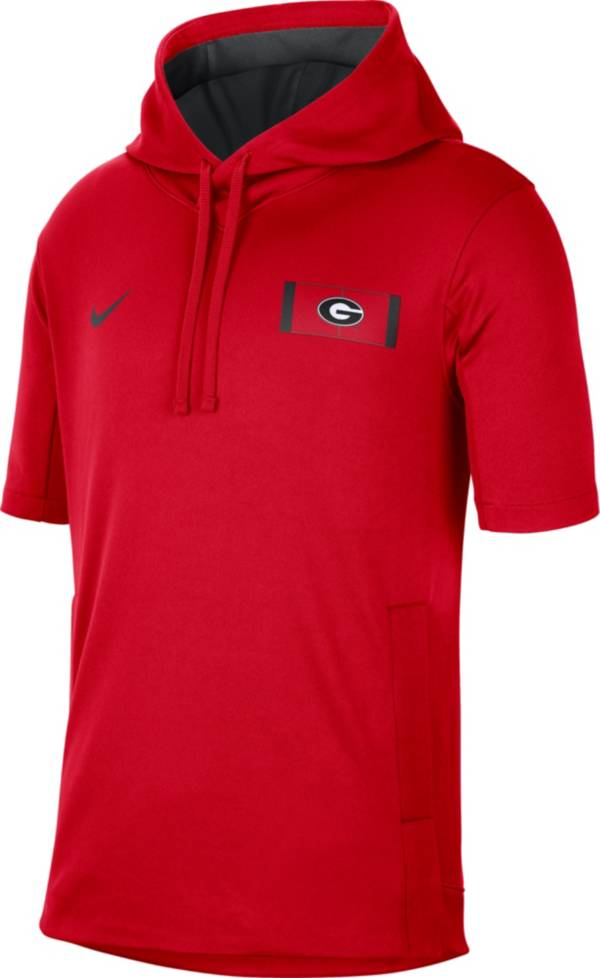 Nike Men's Georgia Bulldogs Red Showout Short Sleeve Hoodie product image