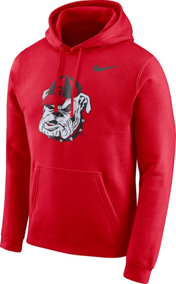 Nike Men's Georgia Bulldogs Red Club Vault Pullover Hoodie product image