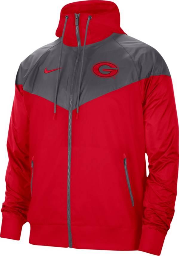 Nike Men's Georgia Bulldogs Red Windrunner Jacket product image