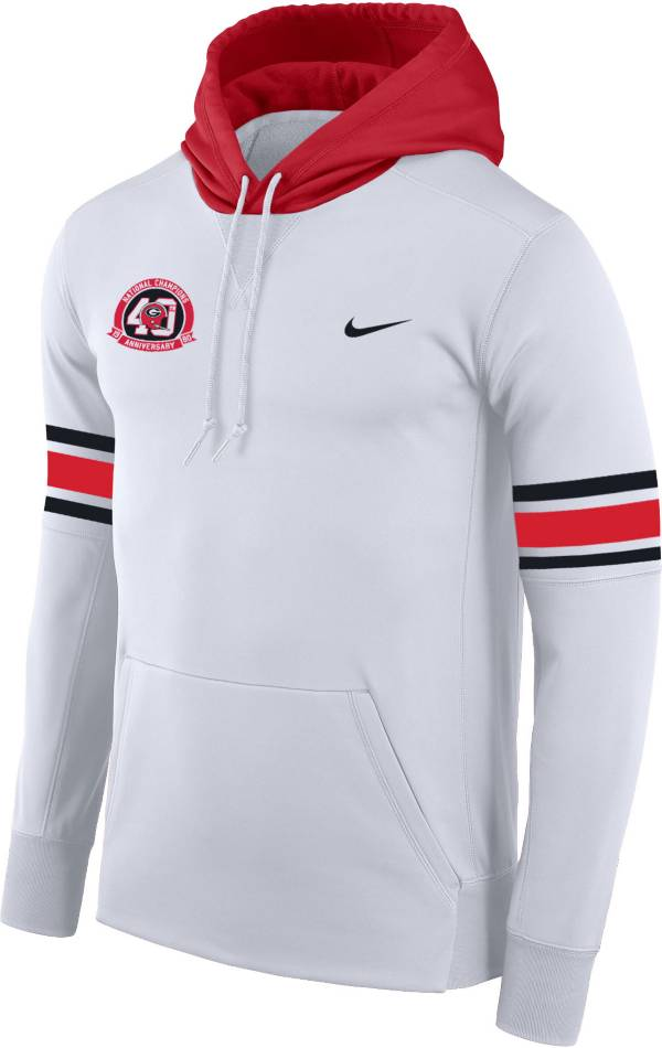 Nike Men's Georgia Bulldogs '40th Anniversary' Pullover Football White Hoodie product image