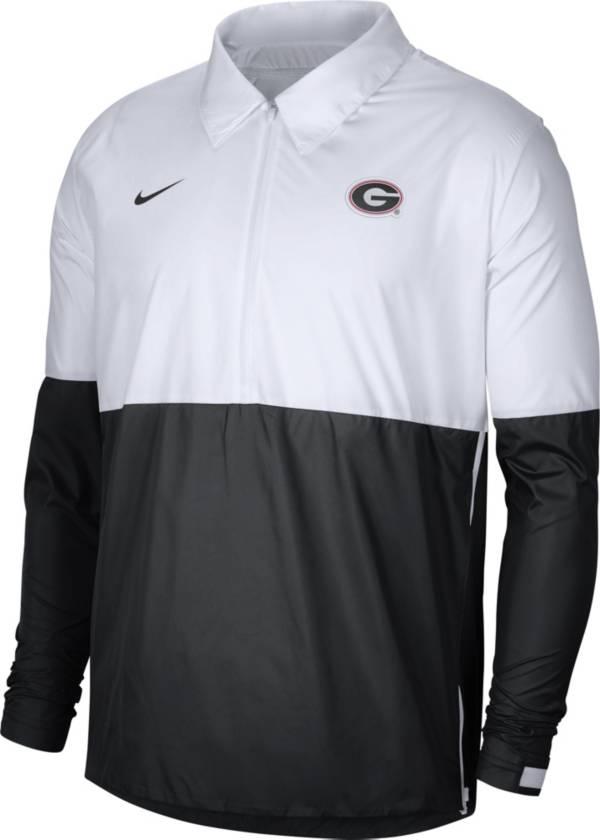 Nike Men's Georgia Bulldogs White/Black Lightweight Football Coach's Jacket product image