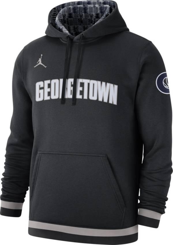 Jordan Men's Georgetown Hoyas Club College Pullover Fleece Black Hoodie product image