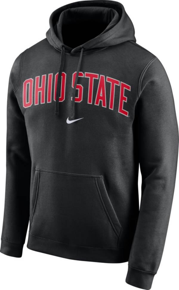 Nike Men's Ohio State Buckeyes Club Arch Pullover Fleece Black Hoodie product image