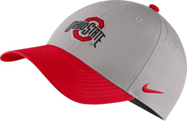 Nike Men's Ohio State Buckeyes Gray/Scarlet Legacy91 Adjustable Hat product image