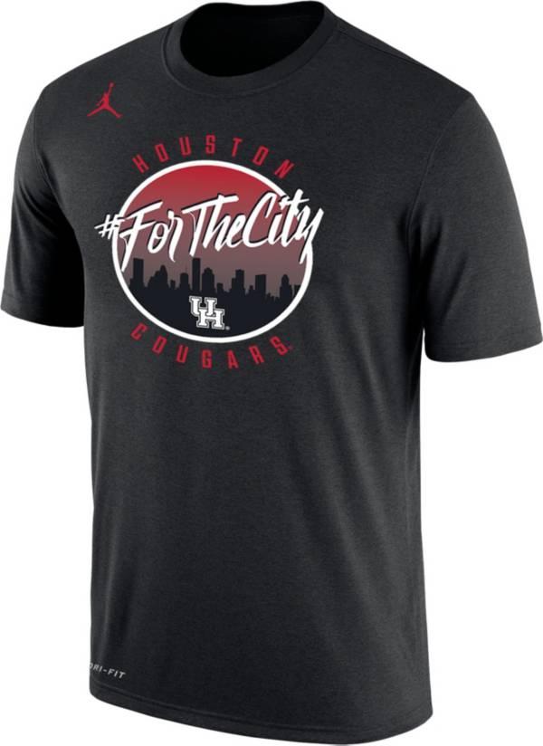 Nike Men's Houston Cougars 'For The City' Dri-FIT Performance Black T-Shirt product image