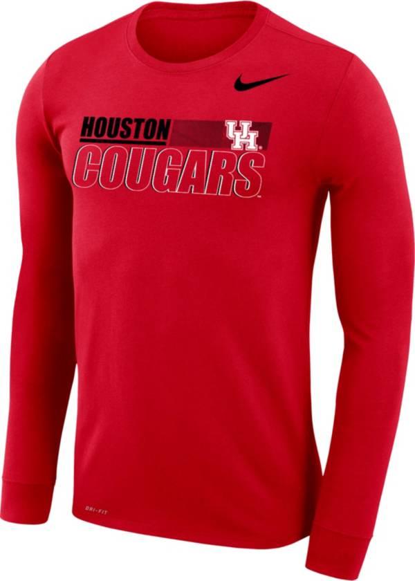 Nike Men's Houston Cougars Red Dri-FIT Legend Long Sleeve T-Shirt product image