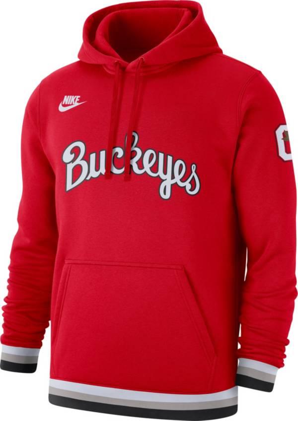 Nike Men's Ohio State Buckeyes Scarlet Club College Pullover Fleece Hoodie product image