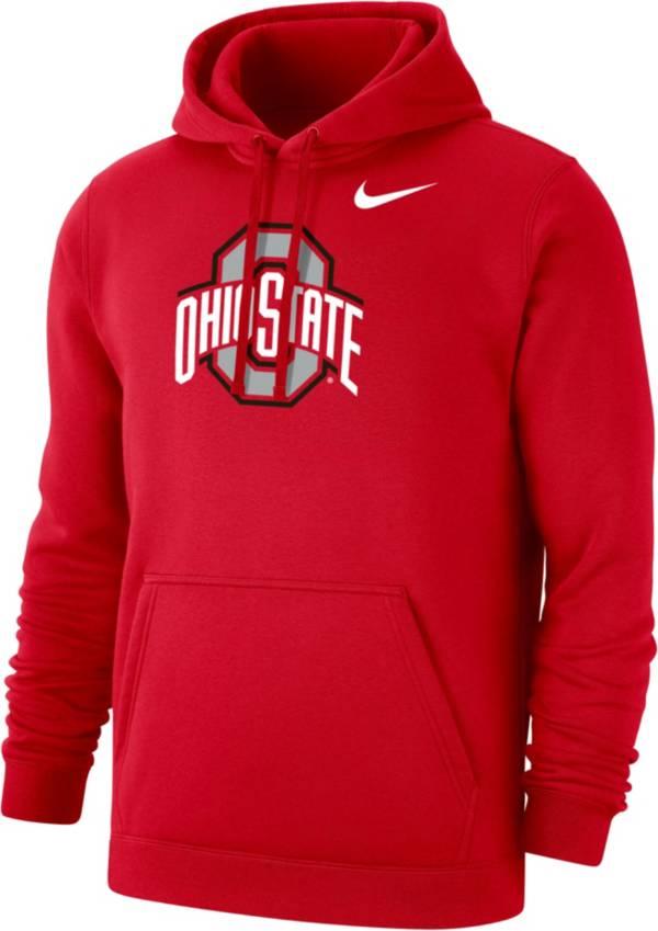 Nike Men's Ohio State Buckeyes Scarlet Club Pullover Hoodie product image