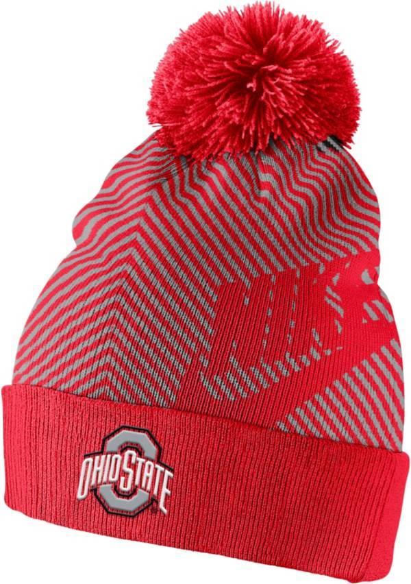 Nike Men's Ohio State Buckeyes Scarlet Futura Knit Pom Beanie product image