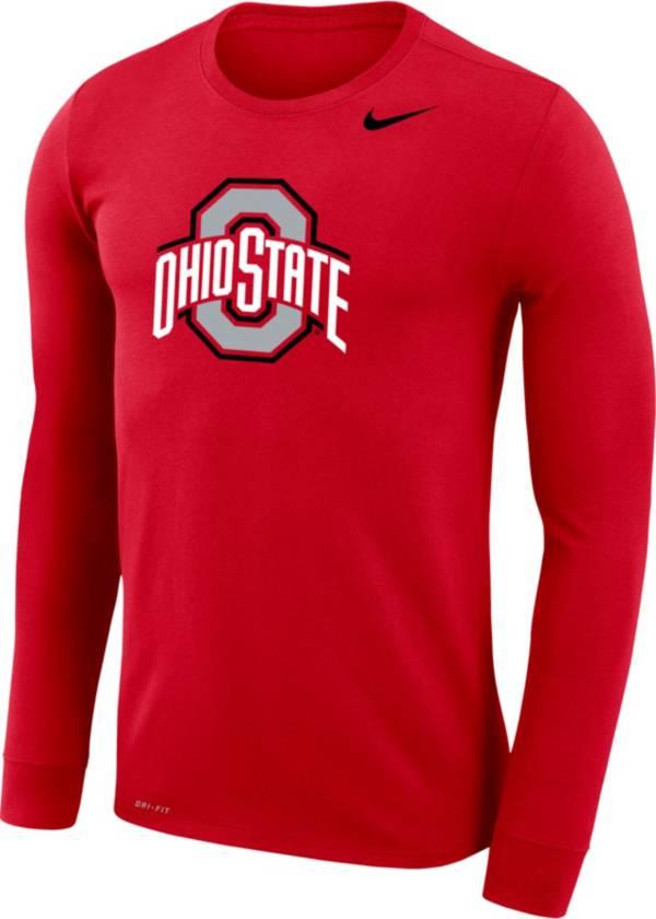 Nike Men's Ohio State Buckeyes Scarlet Dri-FIT Legend Long Sleeve T-Shirt product image