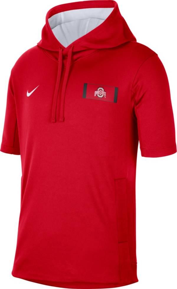 Nike Men's Ohio State Buckeyes Scarlet Showout Short Sleeve Hoodie product image